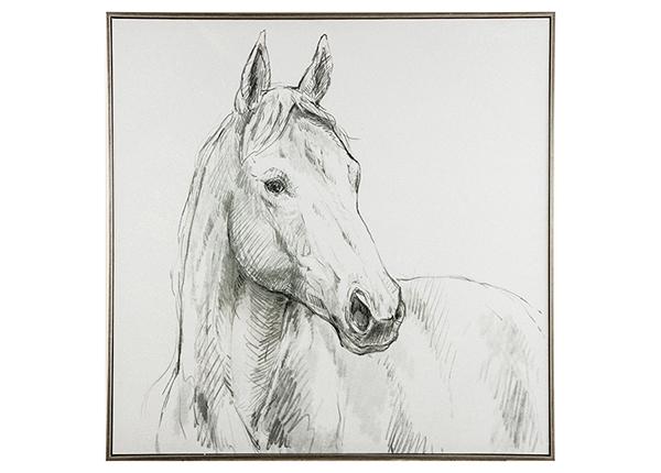 Масляная картина Лошадь 80х80 см