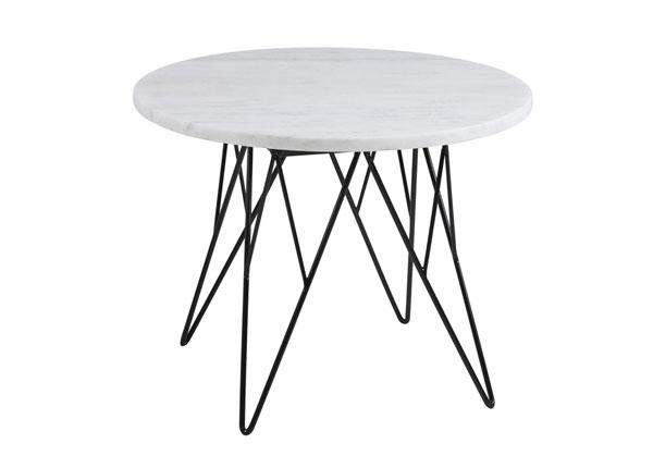 Журнальный стол из мрамора Prunus Ø 55 cm