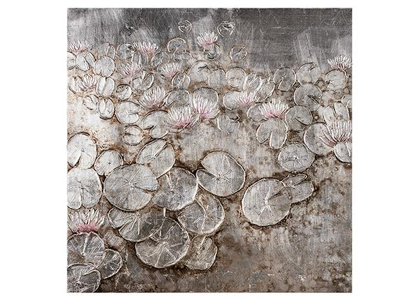 Масляная картина Кувшинки 80x80 см