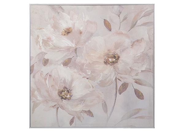 Масляная картина Цветы 80x80 см