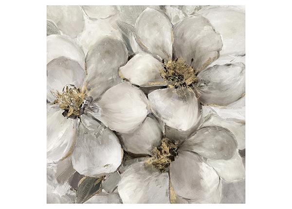 Масляная картина Цветы 76х76 см