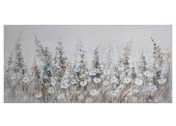 Масляная картина Полевые цветы 46х98 см