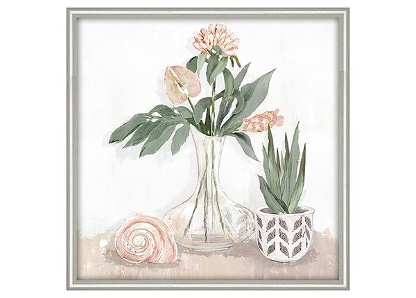 Масляная картина Цветы в вазе 40х40 см
