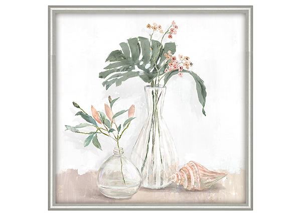 Масляная картина Цветы в вазе 40x40 см
