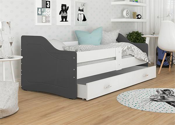 Детская кровать с ящиком + матрас 80x140 cm