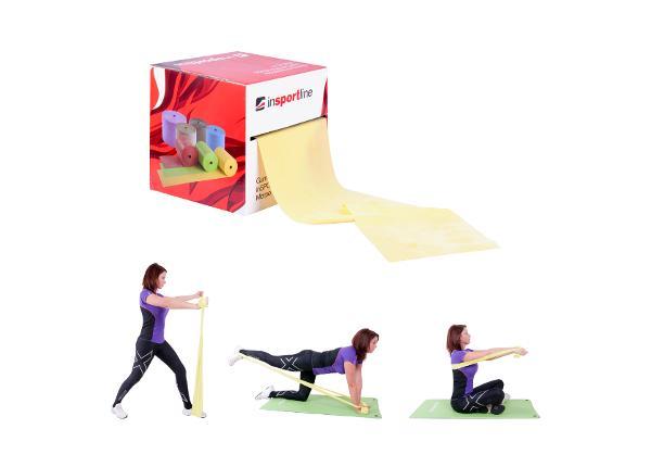 Резинка для фитнеса inSPORTline Morpo Roll 45 X легкая цена за метр