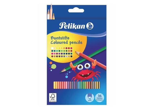 Карандаши цветные 36 цветов Pelikan