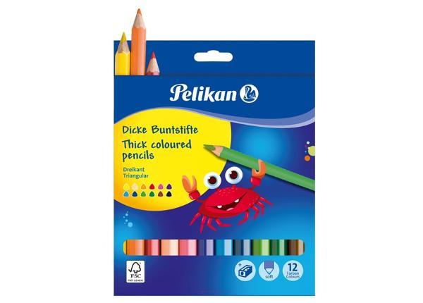 Карандаши цветные Pelikan 12 цветов + точилка