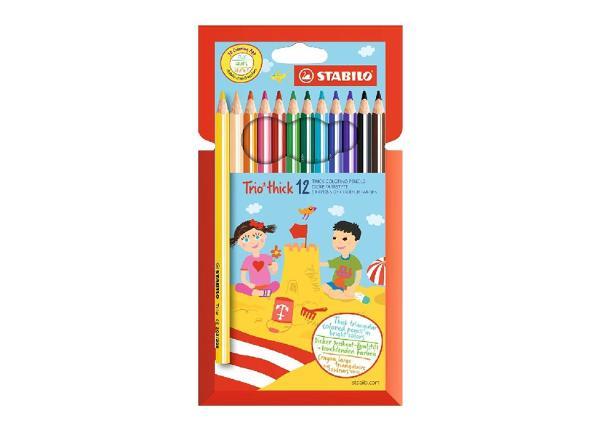 Карандаши цветные Stabilo Trio 12 цветов
