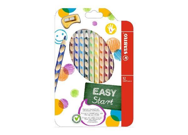 Карандаши цветные Stabilo Easy colors + точилка