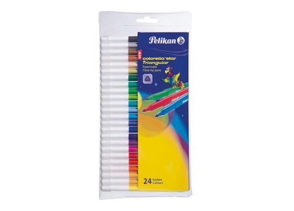Фломастеры треугольные 24 цвета Pelikan