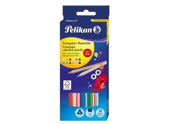 Карандаши цветные 12 цветов Pelikan