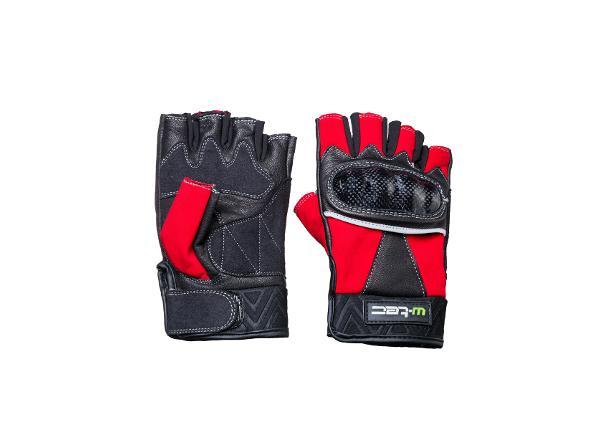 Короткие мотоциклетные перчатки из кожи W-TEC размер S