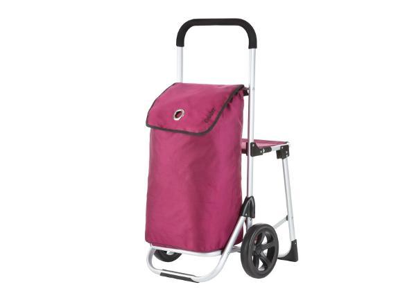 Ostoskärry pyörillä ja istuimella Relax Premium 604351
