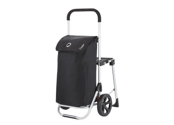 Ostoskärry pyörillä ja istuimella Relax Premium 604350