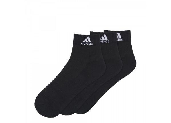 Aikuisten urheilusukat 3 paria Adidas 3 Stripes Performance Ankle Half Cushioned