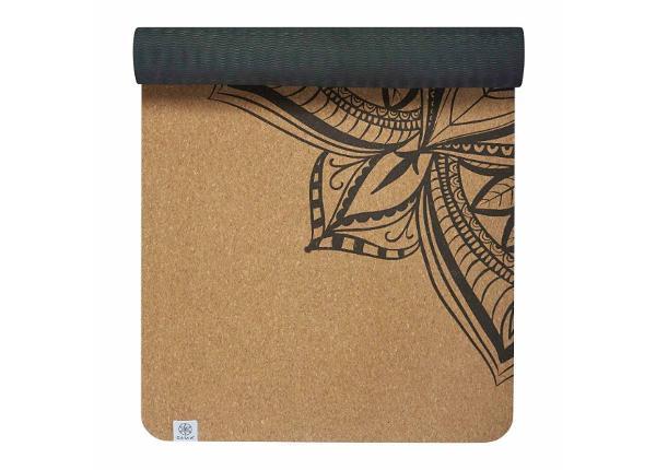 Joogamatto korkkia Gaiam Printed Cork Mandala 173x61 cm