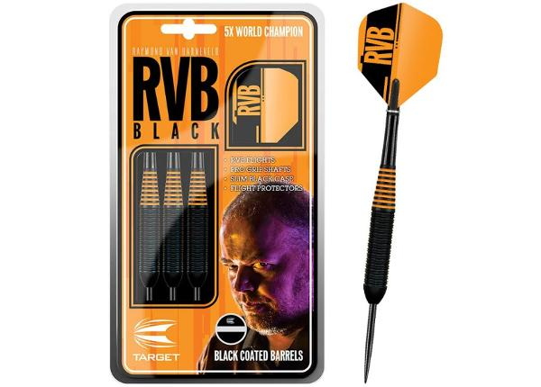 Дротики для игры в дартс Target RVB Black 22g steel