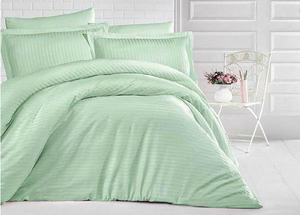 Satiinist voodipesukomplekt Uni Mint 200x220 cm