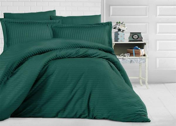 Satiinist voodipesukomplekt Uni Green 200x220 cm