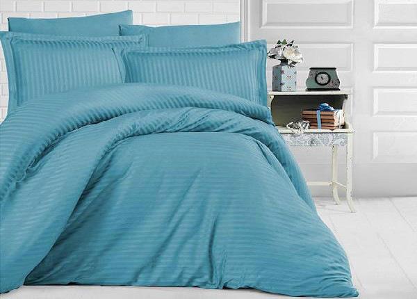 Satiinist voodipesukomplekt Uni Sky Blue 200x220 cm