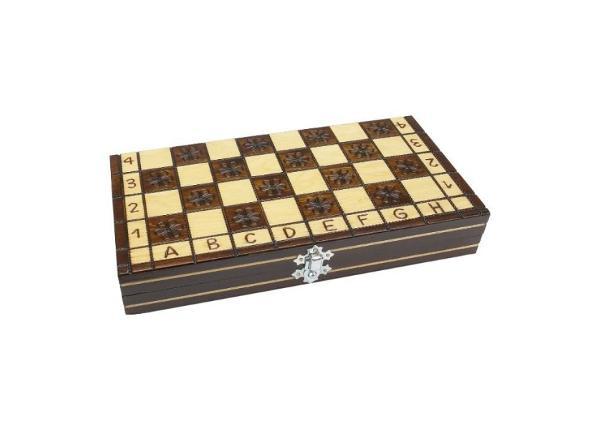 Shakkilauta shakkinappuloilla 27 x 27 cm