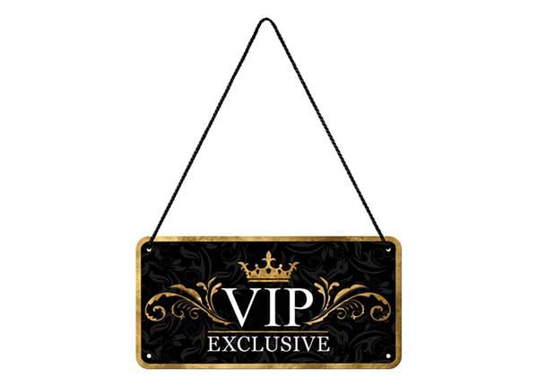 Retro metallijuliste VIP 10x20 cm