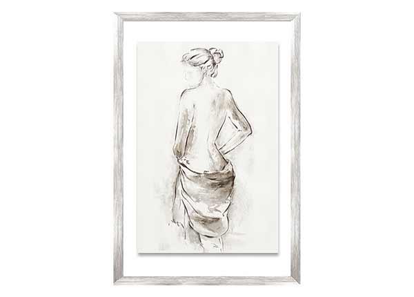 Öljymaalaus Nainen ja huivi 50x70 cm