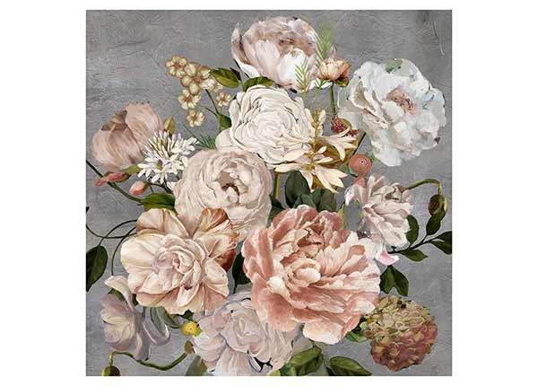 Öljymaalaus Kukkakimppu 100x100 cm