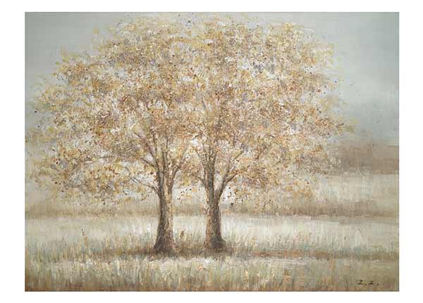 Öljymaalaus Kaksi puuta 90x120 cm