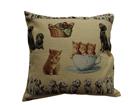 Декоративная подушка из гобелена Кошки и собаки 50х50 см