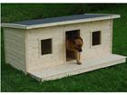 Lämpöeristetty koirankoppi terassilla CHARLY 2-le koiralle