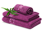 Бамбуковое полотенце лиловое 30X50 cm, 2 шт AN-43632