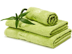 Bambupyyheliina kirkas vihreä 70x140 cm