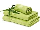 Bambupyyheliina kirkas vihreä 100x150 cm