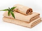 Бамбуковое полотенце бежевое 30x50 cm, 2 шт