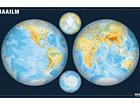 Regio maailma poolkerade seinakaart 1:34 000 000