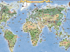 Regio maailma piltkaart riputusliistudega