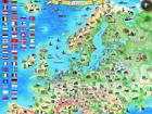Regio Euroopa piltkaart riputusliistudega