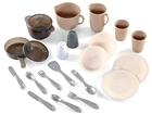 Набор столовых приборов с кастрюлей и сковородкой