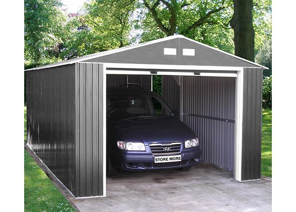 Metallinen autokatos/puutarhasuoja 17m²