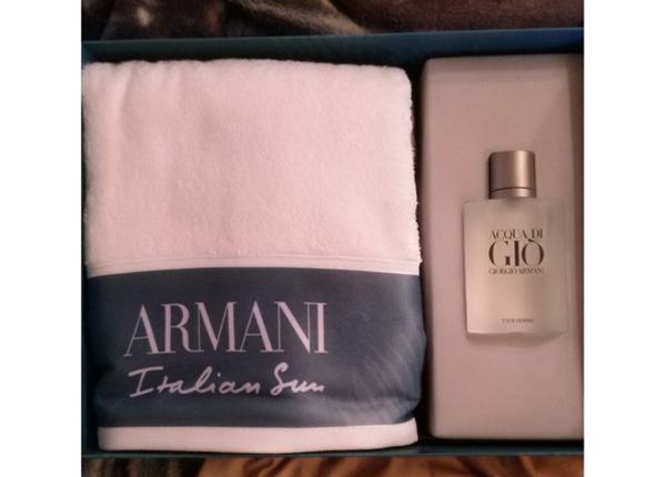 Giorgio Armani Acqua di Gio pour Homme EDT 100ml + saunalina