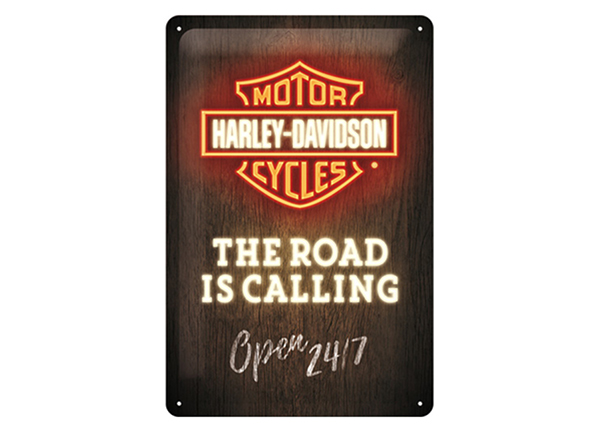 Retro metallposter Harley-Davidson - Road is Calling 20x30 cm SG-57089