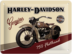 Металлический постер в ретро-стиле Harley-Davidson 750 Flathead 20x15 см SG-57111