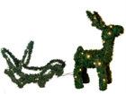 Joulukoriste ulkotiloihin REINDEER / SLEDGE 65 cm AA-57384