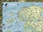 Regio Eestimaa piltkaart riputusliistudega 99x69cm