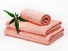 Комплект бамбуковых полотенец, абрикос