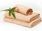 Комплект бамбуковых полотенец, бежевый