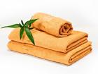 Комплект бамбуковых полотенец, жёлтый