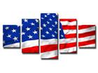 Viisiosainen seinätaulu USA ED-65524